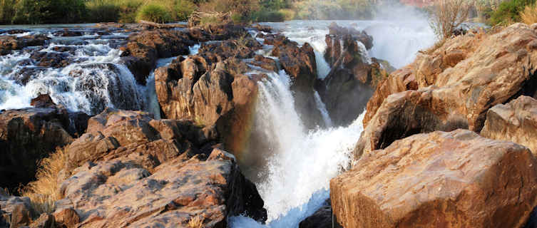 One of Angola's mighty waterfalls