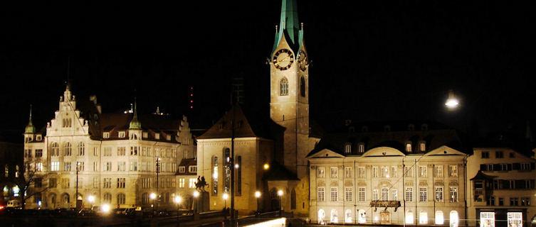 One of Zurich's clocktowers, Switzerland