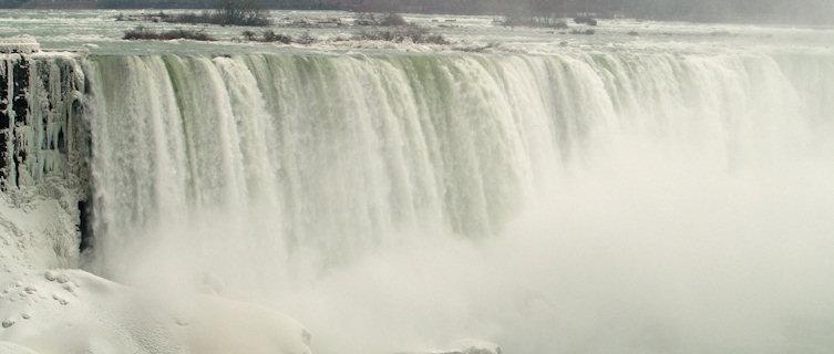 Ontario's Nigara Falls in winter
