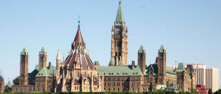 Ottawa's Gothic-style Parliament Buildings, Ontario