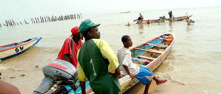 Pescadores Mbor, Senegal