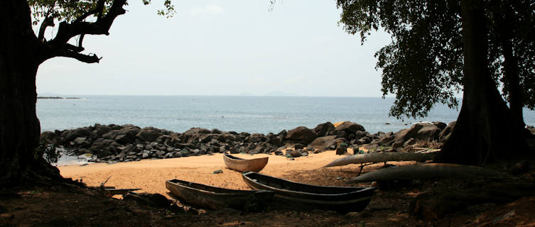 Picturesque coastline in Sierra Leone