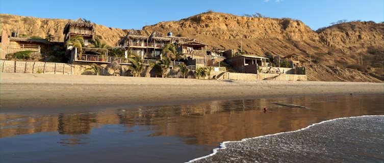 Popular Mancora beach in northern Peru
