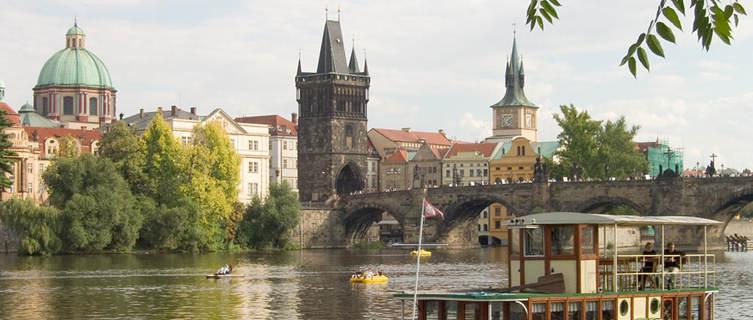 Prague river boat Elbis