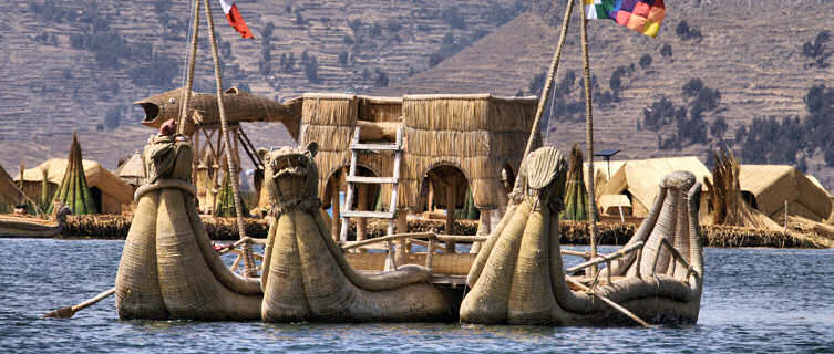 Reed boats, Lake Titicaca, Peru