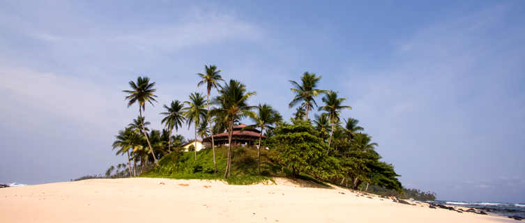 Relaxing oasis on the beaach, Sao Tome e Principe