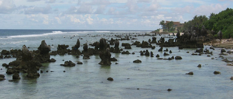 Rocky coasline of Nauru