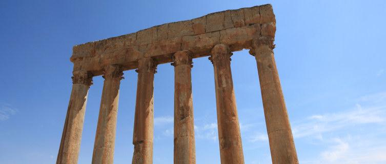 Roman columns, Baalbek, Lebanon