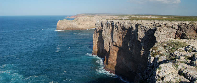 Rugged cliffs at Portugal's Cabo de Sao Vincente