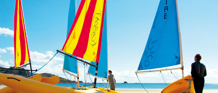Sailing Dinghies, St Brelades Bay, Jersey