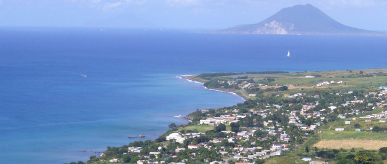 St Eustatius viewed from St Kitts