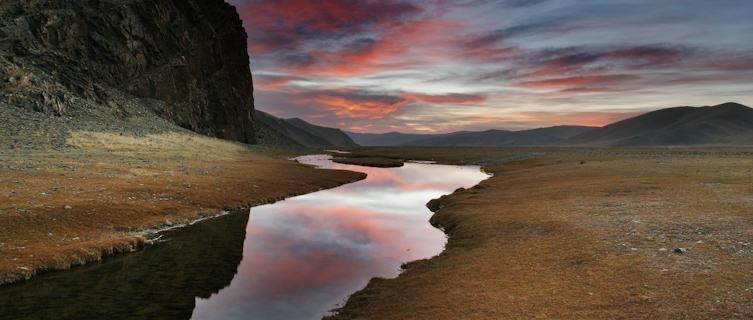 Stark Mongolian steppes