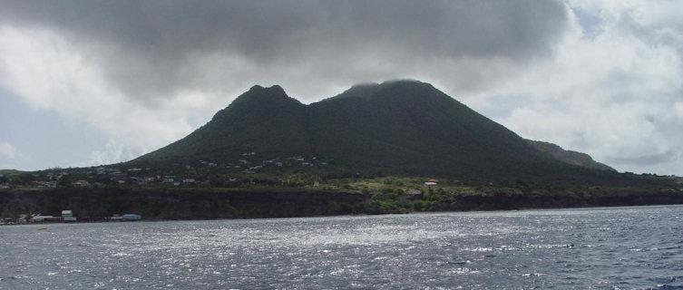 Statia from a boat, St Eustatius