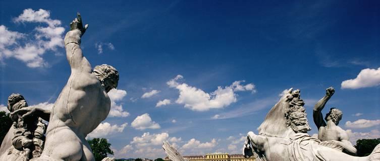 Statues at Schonbrunn Palace, Vienna, Austria