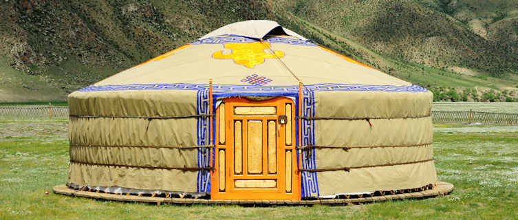 Stay in a traditional Mongolian yurt