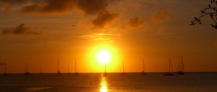 Sunset, Reduit Beach, at Rodney Bay, St Lucia