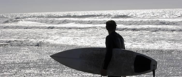 Surfer in California's San Diego