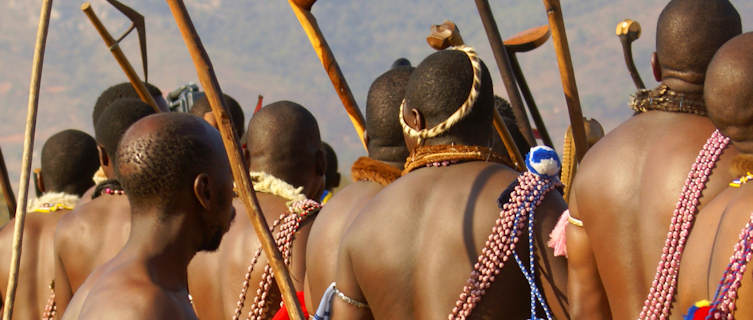Swazi headmen during Reed Dance, Swaziland