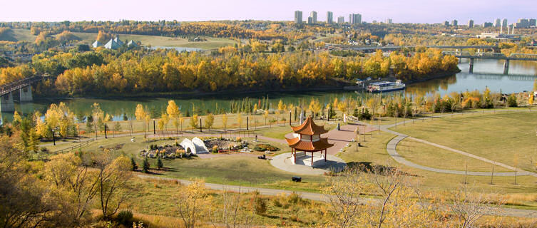 The city of Edmonton offers plenty of green space