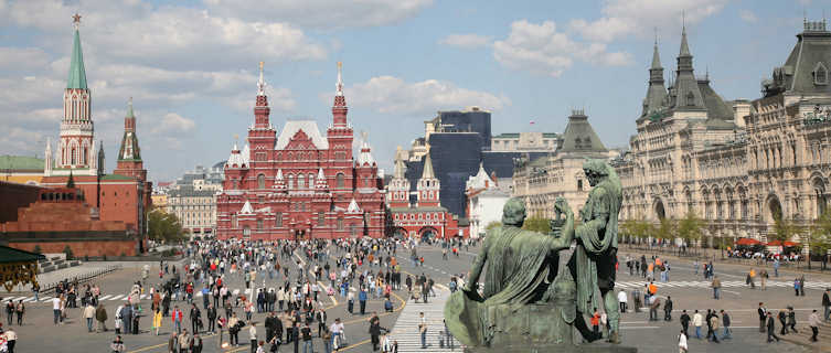 The hustle and bustle of Red Square
