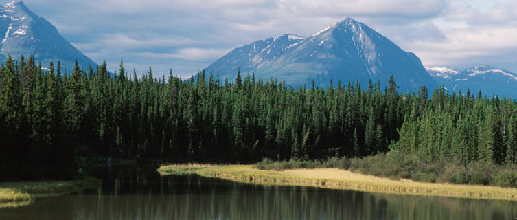 The mountainouse wilderness of the Yukon is excellent for hiking