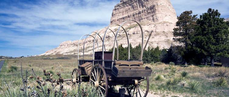 The Oregon Trail winds through Nebraska