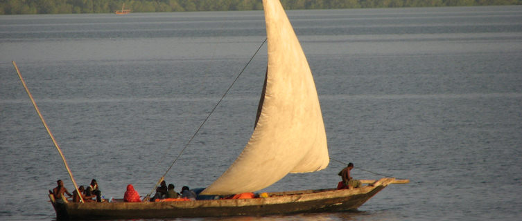 Traditional dhow boat, Zanzibar