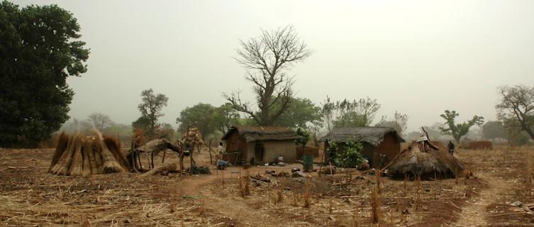 Traditional village hut, Ivory Coast