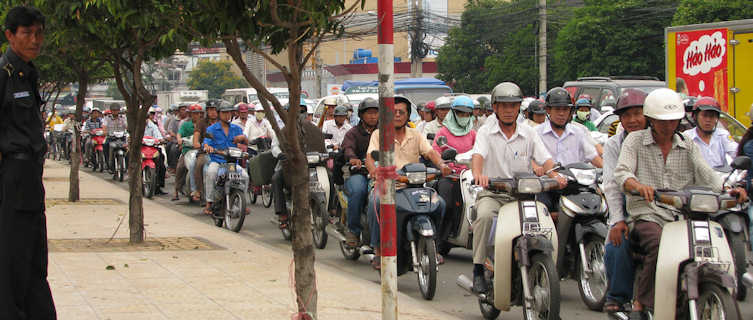 Ho Chi Minh City's legendary rush hour traffic
