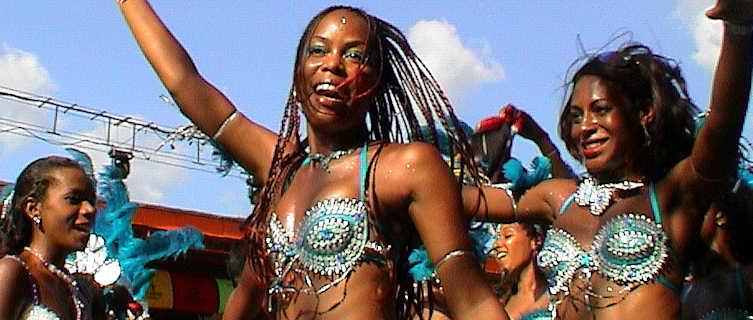 Trinidad carnival dancers