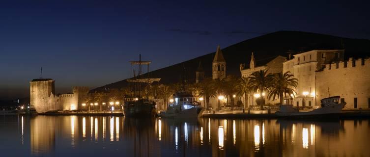 Trogir at night, Croatia