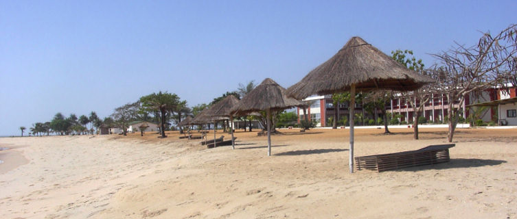 Tropical beach in Guinea-Conakry
