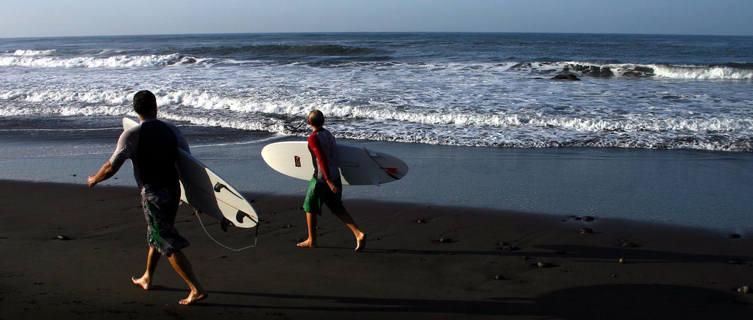 Two Surfers, Playa El Tunco, El Salvador