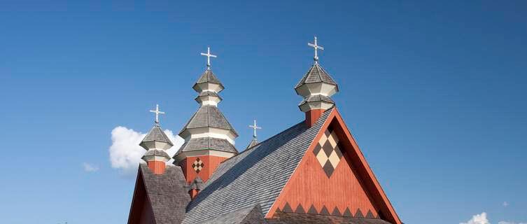 Ukranian inspired Church, Saskatchewan