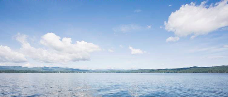 Vermont's tranquil lakes are excellent relaxing sailing