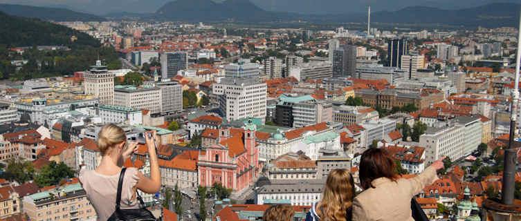 View of capital from Ljubljana castle