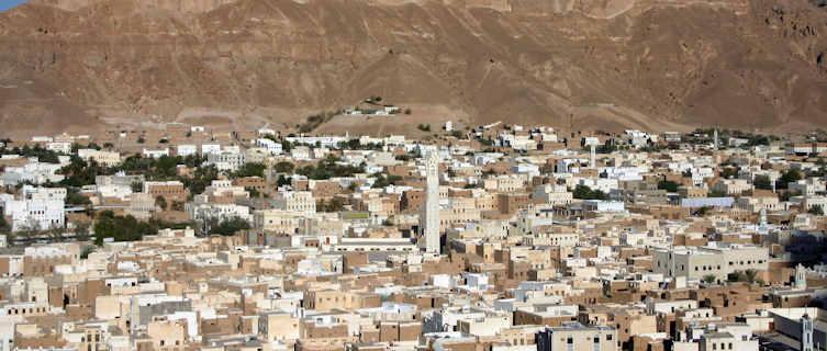 View of Seiyun, Yemen