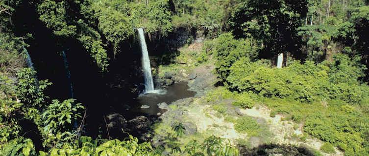 Waterfall in jungle, Nigeria