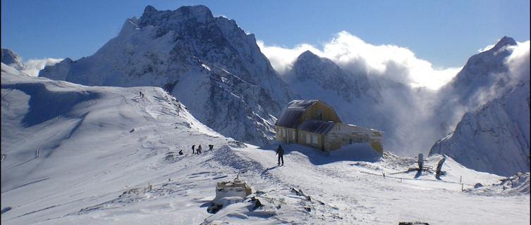 Wintry Caucasus Mountains